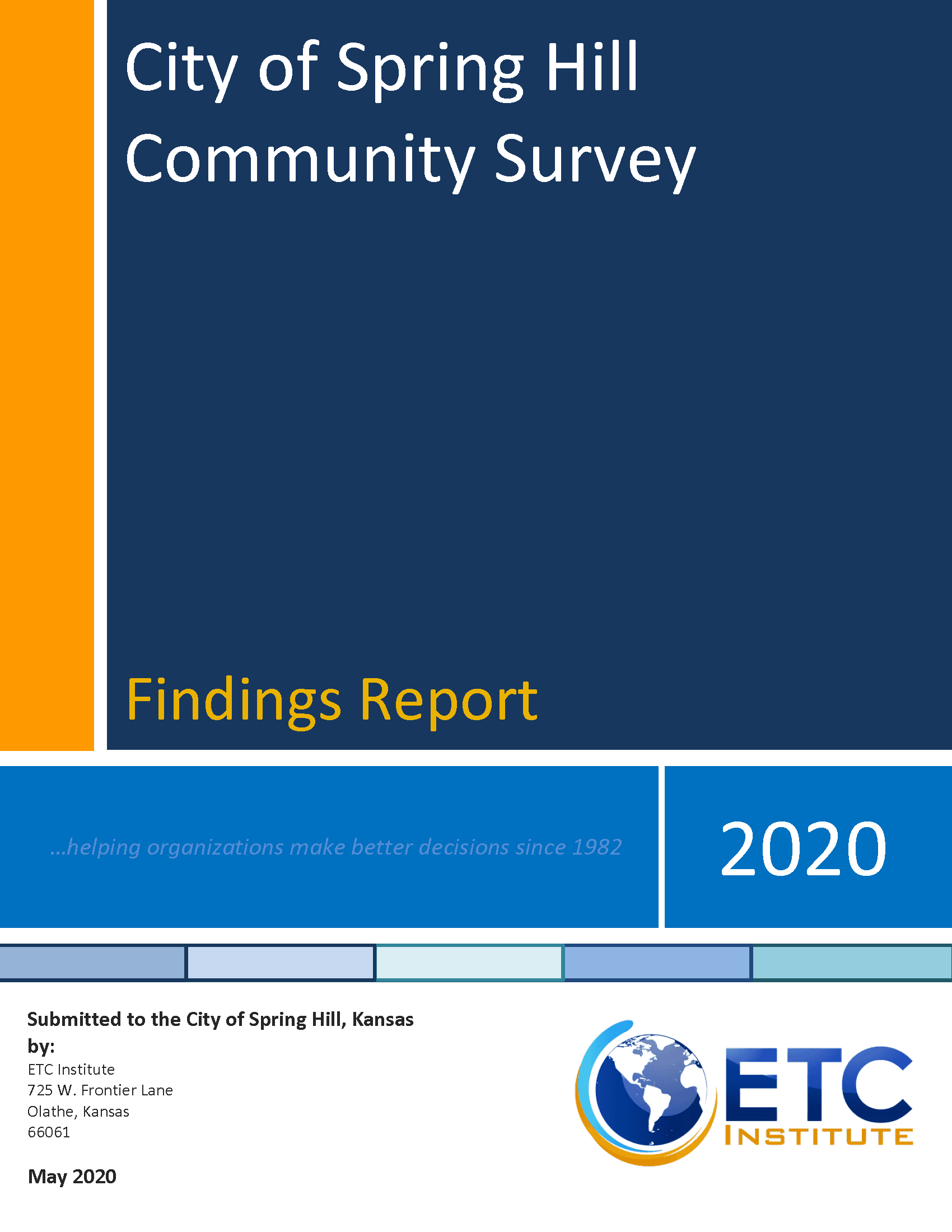 Front page of 2020 Resident survey
