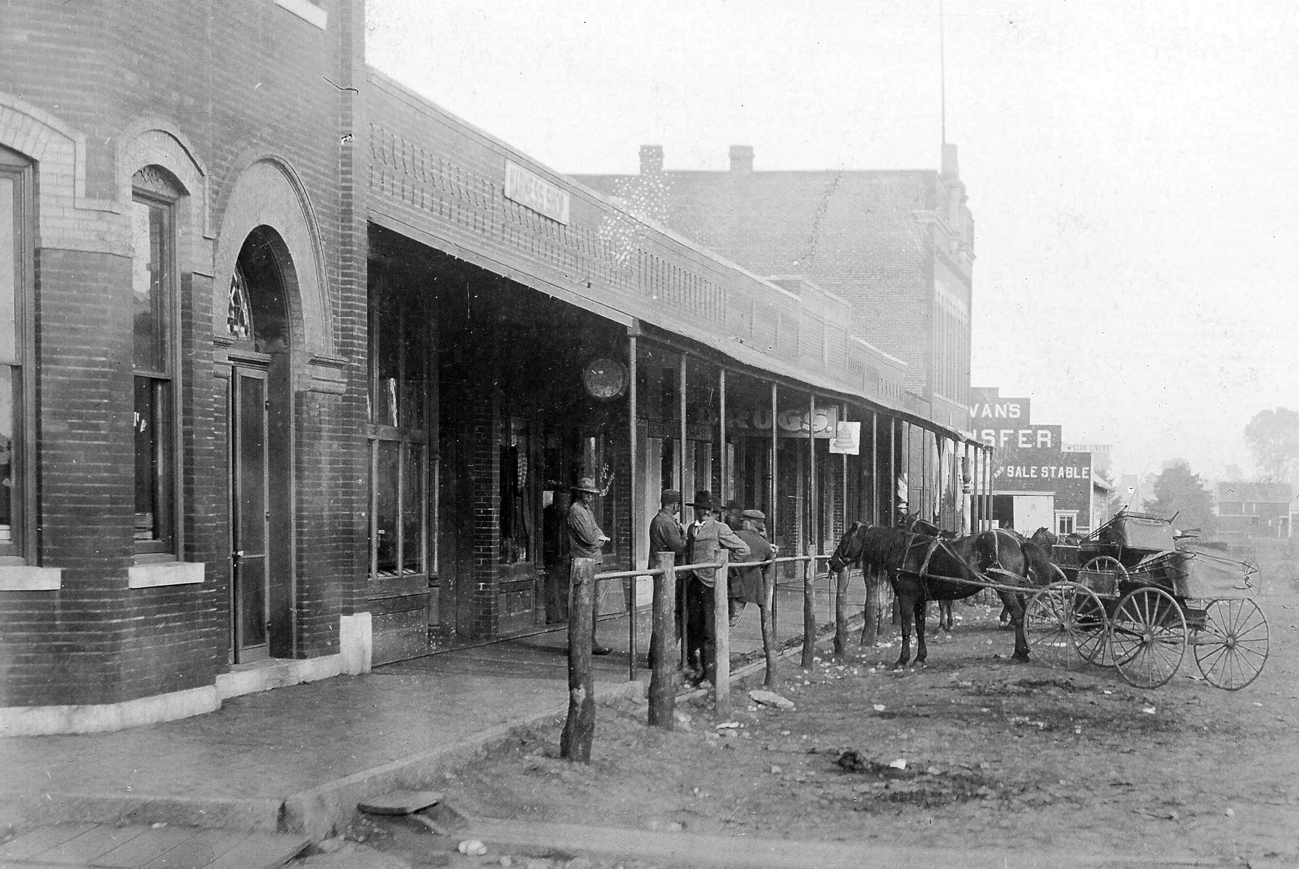Historic photo looking northwest on Spring Hill's Historic Main Street.